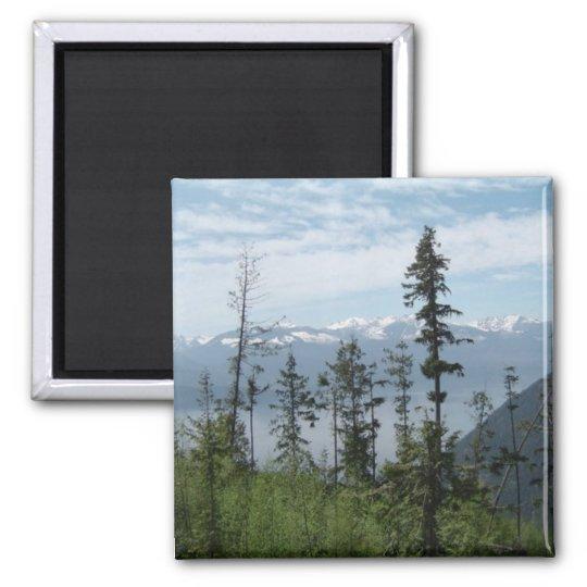 Mountain Scene Square Magnet