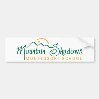 Mountain Shadows Bumper Sticker Transparent