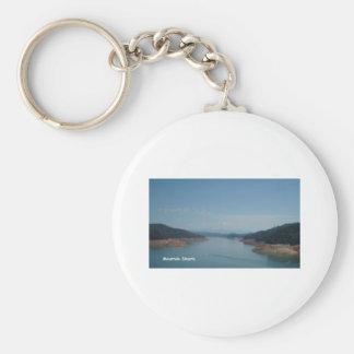 mountain shasta pic basic round button key ring