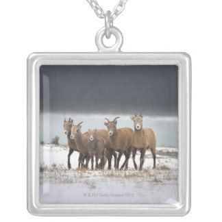 Mountain Sheep Family Personalized Necklace
