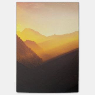 Mountain Silhouettes Sunset Beautiful Nature Post-it Notes