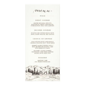 Mountain Sketch Menu Card