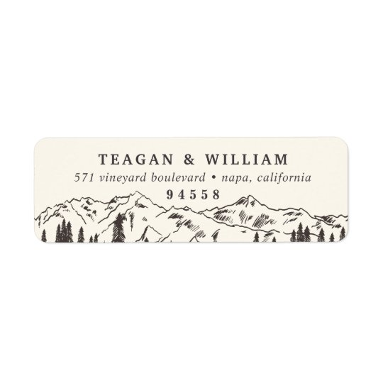 Mountain Sketch Return Address Return Address Label