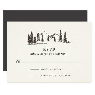 Mountain Sketch RSVP Card