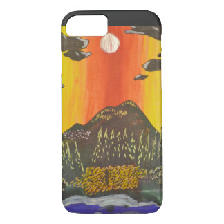 Mountain Sky Doodle Phone Case