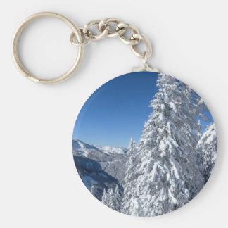 Mountain Snowscape Key Chains