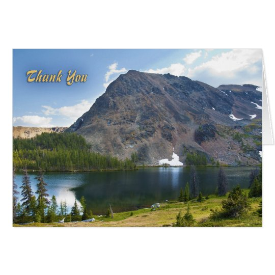 Mountain Splendour Thank You Card