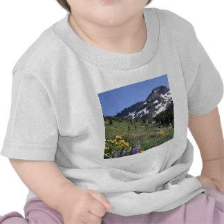 Mountain Spring Bloom Flowers Tee Shirt