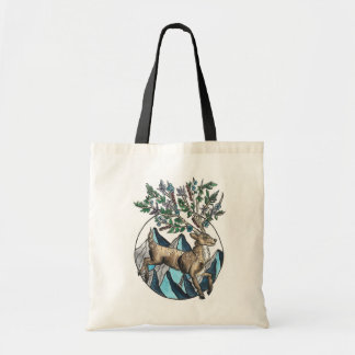 Mountain Stag Illustrated Tote Bag