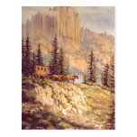MOUNTAIN STAGECOACH by SHARON SHARPE Post Card