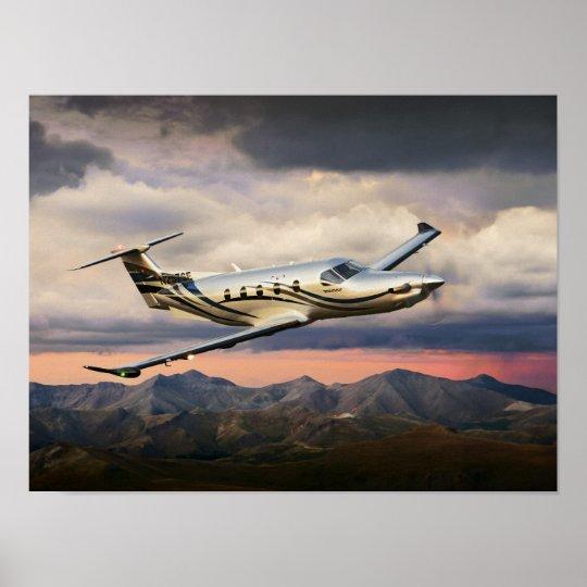 Mountain Storm Pilatus Poster