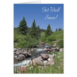 Mountain Stream Get Well Soon Greeting Card