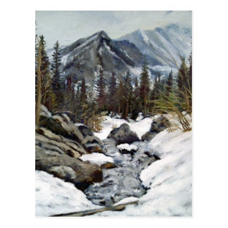Mountain Stream Impressionist Oil Painting Postcard