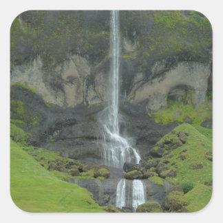 Mountain stream in Iceland Square Sticker