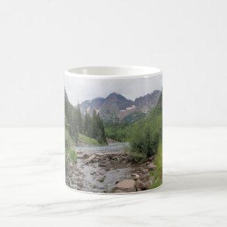 Mountain Stream - Maroon Bells Basic White Mug