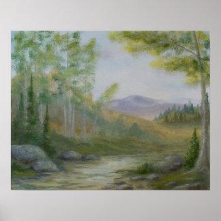 Mountain Summer Landscape Poster
