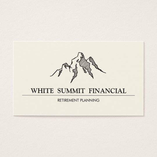 Mountain Summit Finance Professional Business Card