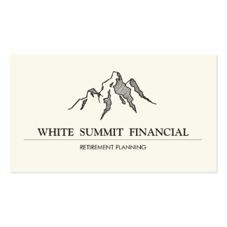 Mountain Summit Finance Professional Pack Of Standard Business Cards