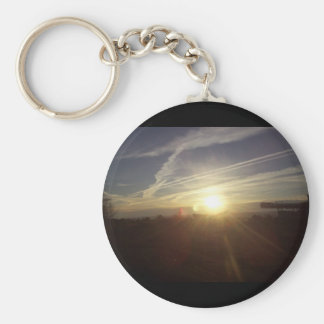 Mountain sunrise key ring