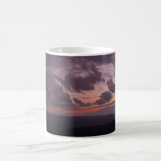 Mountain Sunset Basic White Mug