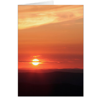 Mountain Sunset in the Shenandoah Card