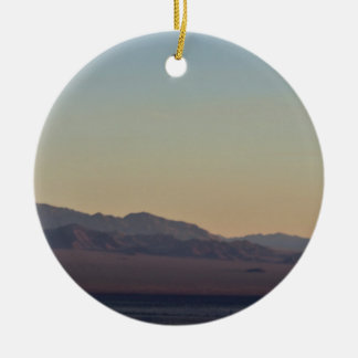 Mountain Sunset Photo Christmas Ornament