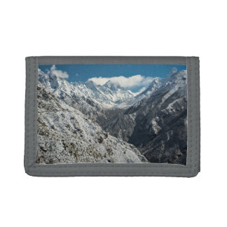 Mountain Themed, Frozen Of Great Mount Everest  In Tri-fold Wallets