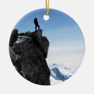 Mountain Top Military Man Christmas Ornament