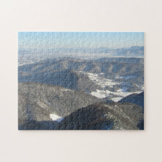 Mountain top view before spring jigsaw puzzle