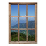 Mountain Top View from a Window Poster