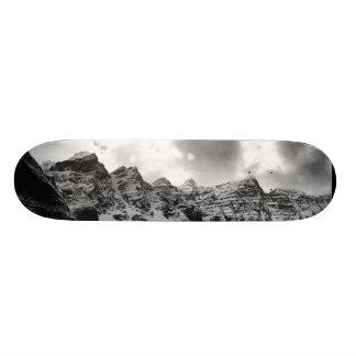 Mountain Tops (black & white) Skate Board