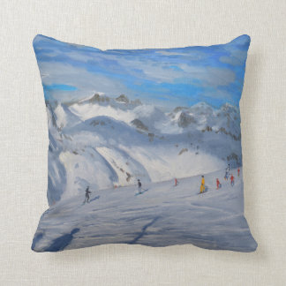 Mountain Tops Tignes 2009 Throw Pillow