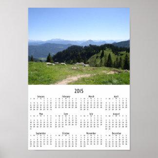 Mountain Trail 2015 wall calendar Poster