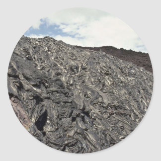 Mountain Under Construction Round Sticker