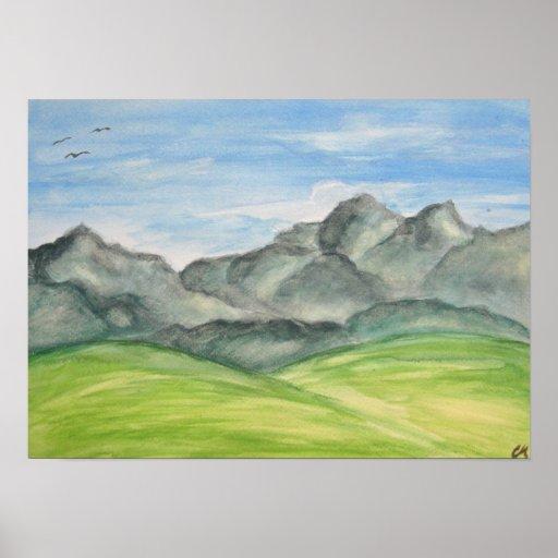 Mountain Valley Art Poster