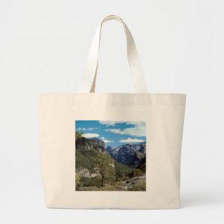 Mountain Valley Vista Yosemite Tote Bags