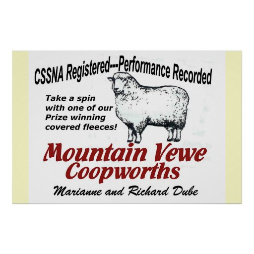 Mountain Vewe Coopworth Poster