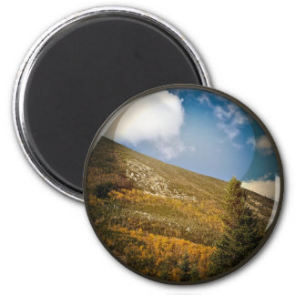 Mountain View 6 Cm Round Magnet