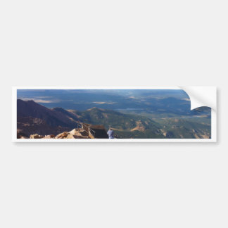 Mountain view at the top of Pikes Peak Bumper Sticker