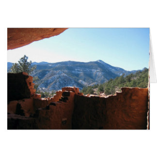Mountain View from Cliff Dwellings Greeting Card