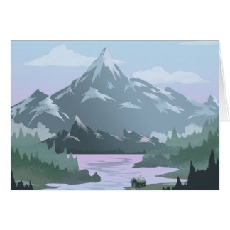 Mountain View Home Greeting Card