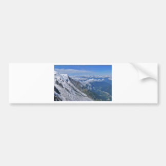 Mountain View Looking Down From The Clouds Car Bumper Sticker