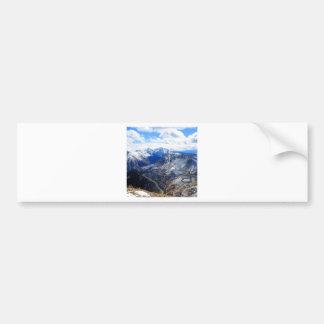 Mountain View Top Of World Car Bumper Sticker