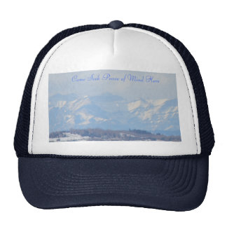 Mountain View with title Mesh Hat