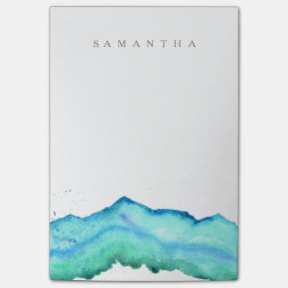 Mountain Watercolor   Custom Name Post-it® Notes