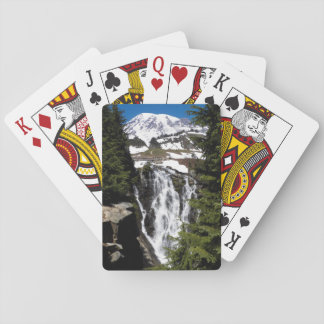Mountain Waterfall Photo Playing Cards