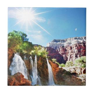 Mountain Waterfall Tile