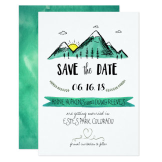 Mountain Wedding Save the Date Card