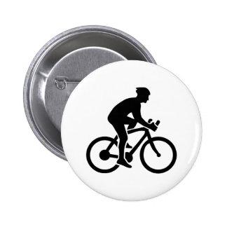 Mountainbike cycling 6 cm round badge