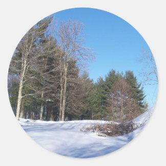Mountaineer View Round Sticker